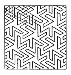 Arabian mosaic square pattern is inlaid pieces of vector