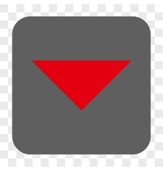 Arrowhead down rounded square button vector