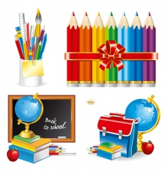 back to school set illustration vector image vector image