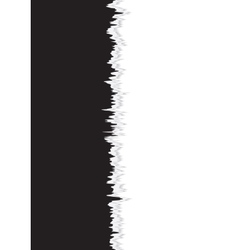 Background of black and white seamless torn paper vector image