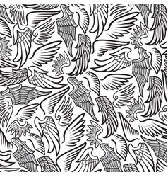 background pattern with wings vector image