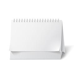 Blank paper desk calendar vector image