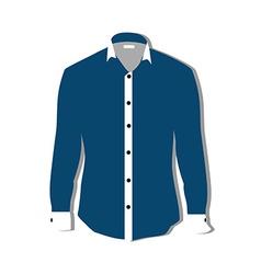 Blue shirt vector image vector image