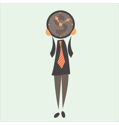 Businessman and time vector