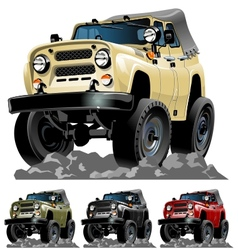 Cartoon jeep one click repaint vector