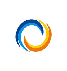 Circle swirl balance abstract logo vector