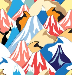 Color pattern of the mountains vector