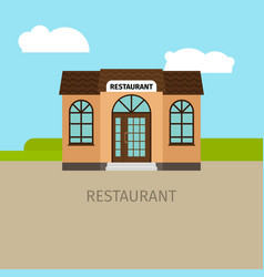 Colored restaurant building vector
