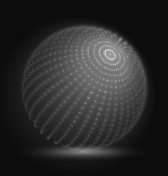Cyber sphere grayscale big data vector
