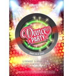 Dance Party Night Poster Background Template - vector image