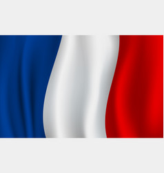Flag of france french national symbol vector