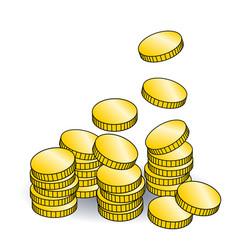 golden coins vector image vector image
