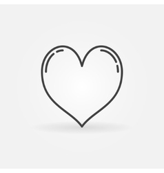 Heart line icon vector image