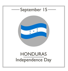 Honduras independence day vector