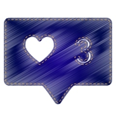 Like and comment sign vector