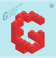 plastic blocs letter g vector image