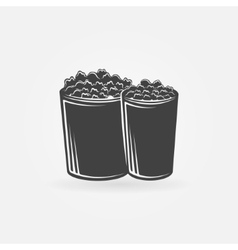Popcorn icon or symbol vector image