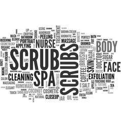 Scrubs word cloud concept vector