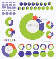 Set of Circle Graph and Charts vector image