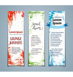 set of colourful grunge vertical banners vector image
