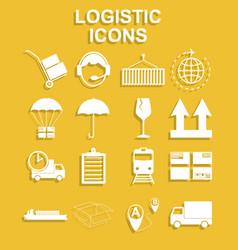 Simple logistics icons set vector