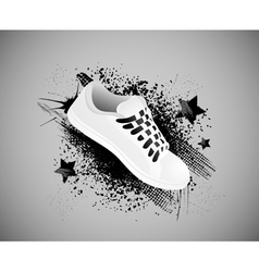 sports shoes background vector image