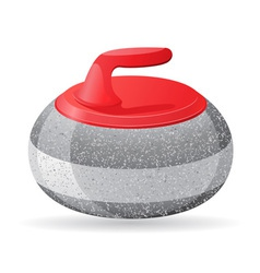 Stone for curling vector