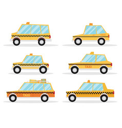 taxi car set flat design vector image