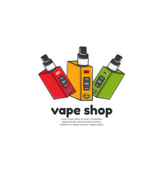 vape shop logo template vector image