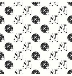 vinyl record disco dance nightlife seamless vector image