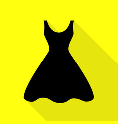 Woman dress sign black icon with flat style vector