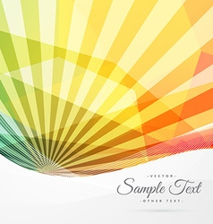 Colorful abstract sunburst background vector