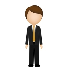 Man with elegant suit without face vector