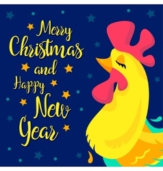 Merry christmas and happy new year memory card vector