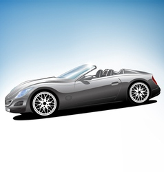 Grey sport car vector image