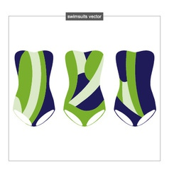 Set of swimwear with an abstract pattern vector