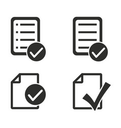 Checklist icons set vector
