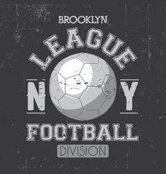 Brooklyn league poster vector