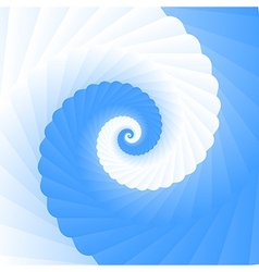 Double colored twirl - white and blue vector
