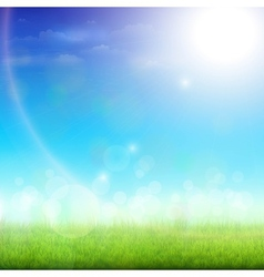 Green Meadow On a Sunny Day vector image