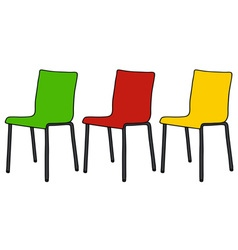 Color chairs vector