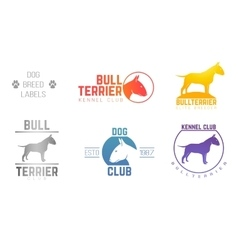 Design logotypes labels set of bill terrier god vector