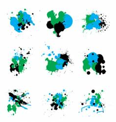 trio paint splat vector image