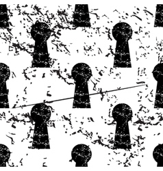Keyhole pattern grunge monochrome vector