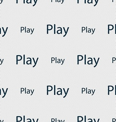 Play sign icon symbol seamless abstract background vector