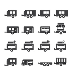 Trailer icon vector