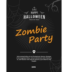 Zombie party flyer or poster template vector
