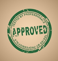 Old round stamp of approval vector