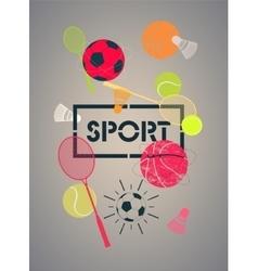 Sport poster vector