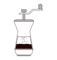French coffee press icon vector